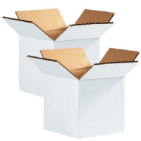 White Single Walll Cardboard Boxes